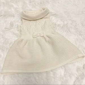 Janie and jack folded over collar sweater dress